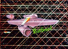 STAR TREK 1968 Original Film Slide AND Color 5x7 Photo #96 Enterprise Webbed In!