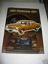 BIANTE BROCHURE  FALCON XR GT GOLD  SUIT 1/18 SCALE MODEL CAR DISPLAY