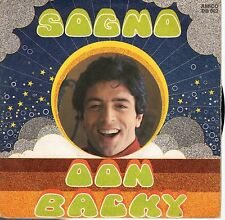 disco 45 GIRI DON BACKY SOGNO - SAMBA con MANIFESTO