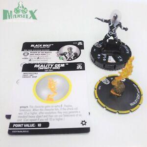 Heroclix Avengers: Black Panther & Illuminati set Black Bolt w/Reality #042 Rare