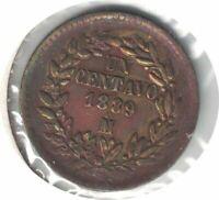 1889 Mo MEXICO 1CENT