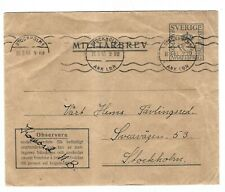 G152 Sweden special military stationery ps stamp cut out scarce!