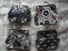 4 mini coin purses in various black & white designs- nice little gifts