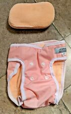 Washable Wonders Washable Dog/Puppy Diaper with 5 Washable Inserts, Pink, XS