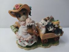 Vintage 295604 Figurine Calico Kittens Mom Maker of Miracles Enesco Porcelain