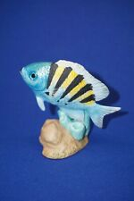 Jeweled Ocean Porcelain Fish Figurine Ellis Franklin Mint - Sergeant Major