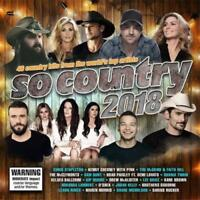 SO COUNTRY 2018 2CD BRAND NEW Kenny Chesney McClymonts Sam Hunt O'Shea Lee Brice