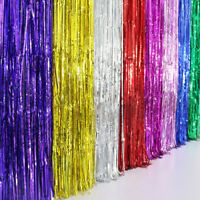Shimmer Door Curtain Fringe Garlands All Colours and Packs  Foil Curtains 2m*1m