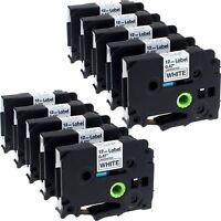 10PK Compatible Brother P-touch Label maker tape Standard TZ TZe 231 12mm 1/2''