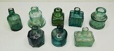 More details for rare/vintage ink bottles inkwells x8