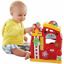 NEW / BOXED - FISHER PRICE LAUGH & LEARN MONKEY'S SMART STAGES FIREHOUSE