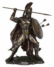 Spartan King Leonidas Statue wit Spear Veronese Cold Cast Bronze