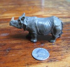 Vintage Lead Toy Rhinoceros Rhino-France