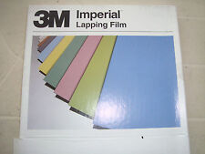 "3M Imperial Lapping  Film in ""BLUE"" 9 micron-- 5 sheets   free post"