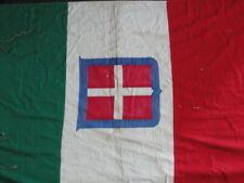 """World War 2 Italian Wall Banner Sardinia With Arms of Savoy Approx. 38"""" x 68"""""""