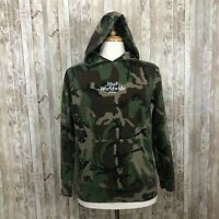 Huf | Sz Medium Green Camouflage Snake Embroidered Patch Hoodie