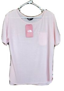 Womens Sz L North Face Light Pink Top poly/ cotton