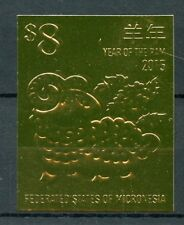 Micronesia 2015 MNH Year of Ram 1v Gold Stamp Chinese Lunar New Year Stamps