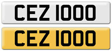 CEZ 1000 Cherished Number plate