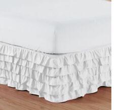 Elegant Comfort Multi- Ruffle Bed Skirt - California King-white
