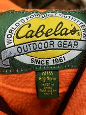 Cabela's Mens Medium Fleece Hunting Vest Hunter Orange Never Been Worn