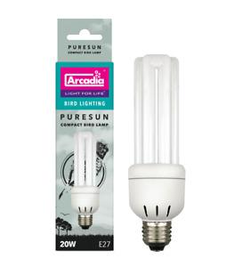 Arcadia Bird Lamp E27 20 W PURESUN 2,4 % UV Kompaktlampe Flackerfrei!