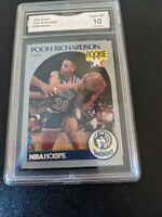 1990-91 NBA Hoops Rookie #190 Pooh Richardson RC Timberwolves GMA 10 GEM LOW POP