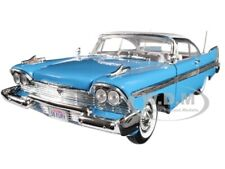 1958 PLYMOUTH FURY BLUE WITH WHITE TOP 1/18 DIECAST MODEL CAR BY MOTORMAX 73115