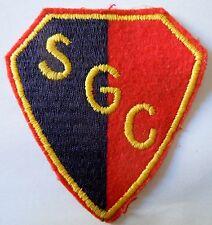 Insigne patch tissu écusson CLUB SPORTIF SGC ORIGINAL ancien