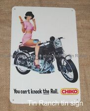 retro CHIKO ROLL tin SIGN vintage advert Australian MILK BAR Vincent motorcycle