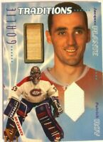 2001-02 BAP Memorabilia Goalie Tradition Stick Jersey Jacques Plante Patrick Roy