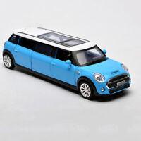 BMW Mini Extended Limousine 1:36 Model Car Diecast Toy Kids Boys Gift Blue