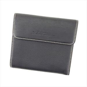 Salvatore Ferragamo Wallet Purse Ganchini Black Woman Authentic Used T8629