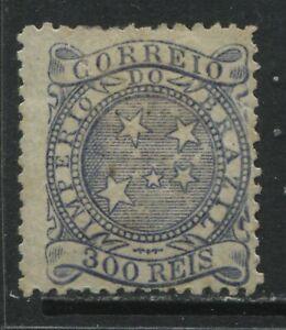 Brazil 1887 300 reis black unused no gum