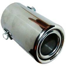 Cromado Borde De Tubo Escape Tip Extensión Ajuste Universal 35-49mm 50x80mm EX0