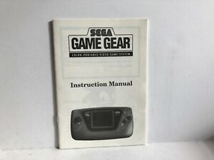 Sega Game Gear Console instruction Manual Booklet Insert ONLY