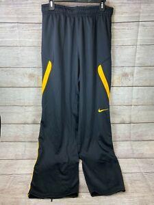 Men's Black & Gold Nike Dri Fit Sweatpants Warm Up Basketball Pants