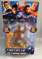 Fantastic 4 Flame-On Human Torch Action Figure In Packaging Shows Wear