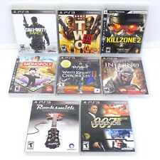 Call Of Duty Killzone Army Of Two Rocksmith Dante's Inferno PS3 Game Lot Of 8