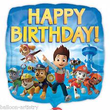 """18 """"Paw Patrol chiot animaux enfants joyeux anniversaire ballon foil carré parti"""