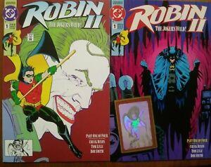 FREE SHIPPING! Robin II (2 TOTAL) Hologram Variant DC Batman Copper Age Gemini