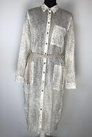 SANDWICH Size 38 Uk 10 Beige Shirt Dress BNWT RRP £69