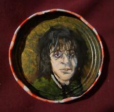 SYD BARRETT of PINK FLOYD, Jam Jar Lid Portrait, Outsider Folk Art by PETER ORR