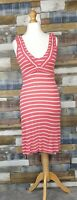 Fat Face Pink White Striped Ladies Dress Size UK 8