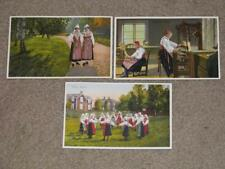 Sweden-Leksand, Dalarne-Mora, Women of Sweden, unused vintage cards