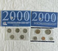More details for usa 2000 philadelphia 10 coin uncirculated mint year set - 2 sealed pack