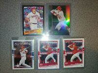 2020 Mike trout lot topps all star black 299 titanium donruss optic titanium
