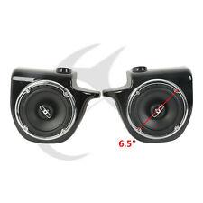 "Glossy 6.5"" Speaker Pod W/ Speakers Lower Vented Fairing Fit Harley Touring FL"