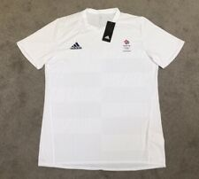 ADIDAS TEAM GB WINTER OLYMPICS MEN'S WHITE CLIMACOOL T-SHIRT- MEDIUM - BNWT