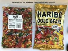 Haribo Gummibears Gold Bears 5 Pound Bags Original Sweets German Candy
